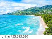 Seychelles Beau Vallon beach Mahe island landscape scenery vacation... Стоковое фото, фотограф Zoonar.com/Markus Mainka / easy Fotostock / Фотобанк Лори