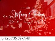 Merry Christmas Postkarte vor Weihnachten Hintergrund. Стоковое фото, фотограф Zoonar.com/Robert Kneschke / age Fotostock / Фотобанк Лори