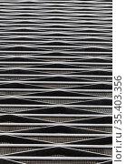 Decorative black lattice of metal rods and stripes. Стоковое фото, фотограф Юрий Бизгаймер / Фотобанк Лори