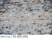 Brick wall of rough stone background. Стоковое фото, фотограф Юрий Бизгаймер / Фотобанк Лори