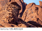Beautiful rock formations in the Nevada desert against a blue sky. Стоковое фото, фотограф Zoonar.com/Walter G Arce Sr Grindstone Media Group / easy Fotostock / Фотобанк Лори