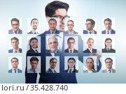 Recruitment and employment concept with businessman. Стоковое фото, фотограф Elnur / Фотобанк Лори
