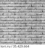 Seamless background texture of an old gray brick wall. Стоковое фото, фотограф EugeneSergeev / Фотобанк Лори
