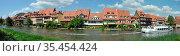Regnitz, Bamberg, franken, bayern, fluss, bach, schiff, ausflugsschiff... Стоковое фото, фотограф Zoonar.com/Volker Rauch / easy Fotostock / Фотобанк Лори