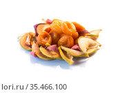 handful of sweet natural organic dried fruits. Стоковое фото, фотограф Peredniankina / Фотобанк Лори