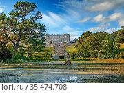View of Powerscourt Estate from garden, Ireland. Стоковое фото, фотограф Zoonar.com/Boris Breytman / easy Fotostock / Фотобанк Лори