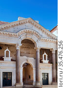 Diocletian's Palace is an ancient palace built for the Roman Emperor... Стоковое фото, фотограф Zoonar.com/Boris Breytman / easy Fotostock / Фотобанк Лори