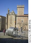 Caceres, Spain - Feb 23th, 2021: Helga de Alvear Foundation Caceres... Редакционное фото, фотограф Juan García Aunión / age Fotostock / Фотобанк Лори