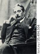 Giacomo Puccini (1858-1924) in 1910. Italian composer, mainly of ... Редакционное фото, агентство World History Archive / Фотобанк Лори