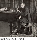 Richard (Georg) Strauss (1864-1949) German composer and conductor... Редакционное фото, агентство World History Archive / Фотобанк Лори