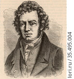 Andre-Marie Ampere (1775-1836) French mathematician and physicist... Редакционное фото, агентство World History Archive / Фотобанк Лори