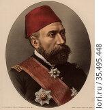 Osman Nuri Pasha (1837?-1900) General of th Ottoman Empire. Редакционное фото, агентство World History Archive / Фотобанк Лори