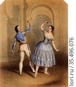 Carlotta Grisi (1819-1899) Italian ballet dancer. Редакционное фото, агентство World History Archive / Фотобанк Лори
