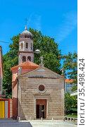 Church of Our Lady of Health was built in 1703 in Zadar, Croatia. Стоковое фото, фотограф Zoonar.com/Boris Breytman / easy Fotostock / Фотобанк Лори