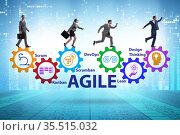Business people in various agile methods concept. Стоковое фото, фотограф Elnur / Фотобанк Лори