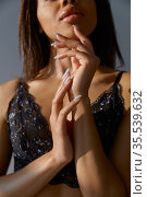 Woman in luxury lingerie, perfect sexy body. Стоковое фото, фотограф Tryapitsyn Sergiy / Фотобанк Лори