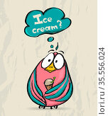 Poster with funny bird. Vector illustration EPS8. Стоковое фото, фотограф Zoonar.com/yunna gorskaya / easy Fotostock / Фотобанк Лори