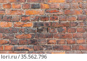 Seamless background photo of red old brick wall. Стоковое фото, фотограф EugeneSergeev / Фотобанк Лори