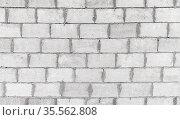 Wall of foam concrete blocks, seamless texture. Стоковое фото, фотограф EugeneSergeev / Фотобанк Лори