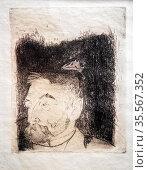 Portrait of Stephane Mallarme, 1891 bu Paul Gauguin (1848-1903). ... Стоковое фото, фотограф Stefano Ravera / age Fotostock / Фотобанк Лори