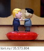 President Trump Meets Rocket Man (Kim Jong Un) Bobblehead (2020 год). Редакционное фото, агентство World History Archive / Фотобанк Лори