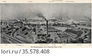 German naval base and Royal Dockyards, Kiel. From Das Buch der Erfindungen... Редакционное фото, агентство World History Archive / Фотобанк Лори