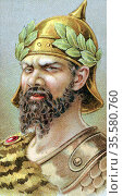 Atilla (Attila c406-453) King of the Huns from 434, known as 'The... Редакционное фото, агентство World History Archive / Фотобанк Лори