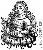 Cimmerian Sibyl: From Hartmann Schedel 'Liber chronicarum mundi' (... Редакционное фото, агентство World History Archive / Фотобанк Лори