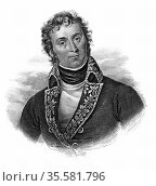 Andre Massena (1758-1817) French soldier, one of Napoleon's marshals... Редакционное фото, агентство World History Archive / Фотобанк Лори