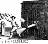 Normal method of applying a petard (explosive device) to the gate... Редакционное фото, агентство World History Archive / Фотобанк Лори