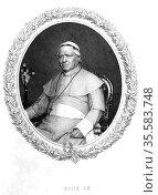 Pius IX (Giovanni Maria Mastai Ferretti - 1792-1878) Pope from 1846... Редакционное фото, агентство World History Archive / Фотобанк Лори