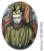 Jan Huss (1369-1415)  Heretical Bohemian theologian.  Burnt at Constance... Редакционное фото, агентство World History Archive / Фотобанк Лори