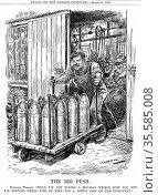 Spirit of war effort. Cartoon by  L. Ravenhill,  London 2  August... Редакционное фото, агентство World History Archive / Фотобанк Лори