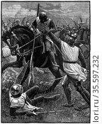 The Battle of Evesham, 4 August 1265. (c1800). Evesham marked the... Редакционное фото, агентство World History Archive / Фотобанк Лори
