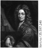 Christopher Wren (1632-1723), 1833.  Wren, English architect, mathematician... Редакционное фото, агентство World History Archive / Фотобанк Лори