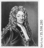 Christopher Wren (1632-1723) English architect, mathematician and... Редакционное фото, агентство World History Archive / Фотобанк Лори