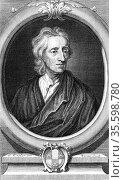 John Locke (1632-1704) English philosopher. Engraving by Vertue after... Редакционное фото, агентство World History Archive / Фотобанк Лори