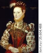 A Young Woman of 21, (1569). English School 16th century. Редакционное фото, агентство World History Archive / Фотобанк Лори