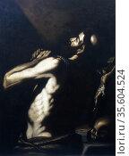 St Jerome'. Oil on canvas.  Louis (Alois) Finson (c1580-1617) Flemish... Редакционное фото, агентство World History Archive / Фотобанк Лори