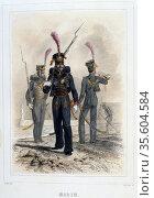 Marine. From 'Napoleon 1er et la Garde Imperiale' by Eugene Fieffe... Редакционное фото, агентство World History Archive / Фотобанк Лори