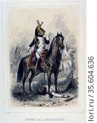 Dragoon of the Empress's Regiment.  From 'Napoleon 1er et la Garde... Редакционное фото, агентство World History Archive / Фотобанк Лори