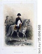 Napoleon I   (1769-1821).  'Napoleon 1er et la Garde Imperiale' by... Редакционное фото, агентство World History Archive / Фотобанк Лори