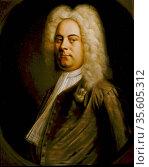 George Frederic Handel (1685-1759) German-born composer who settled... Редакционное фото, агентство World History Archive / Фотобанк Лори