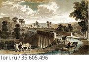 Torridge (Rolle) Canal: Rolle aqueduct near Torrington, Devon, England... Редакционное фото, агентство World History Archive / Фотобанк Лори