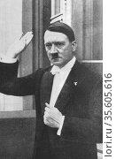 Adolph Hitler (1889-1945) German dictator a1933. Редакционное фото, агентство World History Archive / Фотобанк Лори