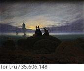 Chalk Cliffs on Rügen, (1818) by Caspar David Friedrich (1774 – 1840... Редакционное фото, агентство World History Archive / Фотобанк Лори