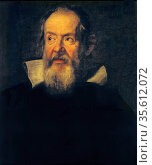 Portrait of Galileo Galilei by Justus Sustermans (1597-1681) Flemish... Редакционное фото, агентство World History Archive / Фотобанк Лори