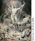 Satan Training the Rebel Angels' : watercolour by William Blake (... Редакционное фото, агентство World History Archive / Фотобанк Лори