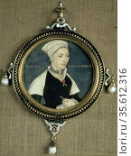 Miniature portrait of Jane Small (or Marguerite Pemberton?) on vellum... Редакционное фото, агентство World History Archive / Фотобанк Лори