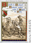 Bertrand du Guesclin or Gueselin (c1320-1380) 'Eagle of Brittany', ... Редакционное фото, агентство World History Archive / Фотобанк Лори